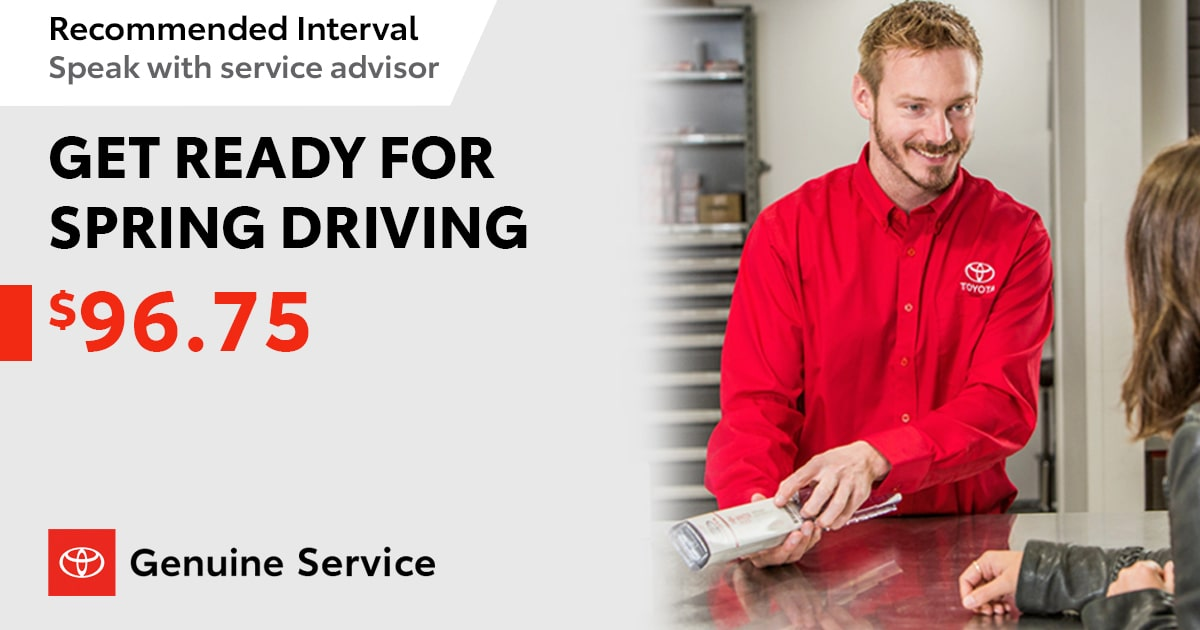 Toyota Get Ready For Spring Driving Special Coupon
