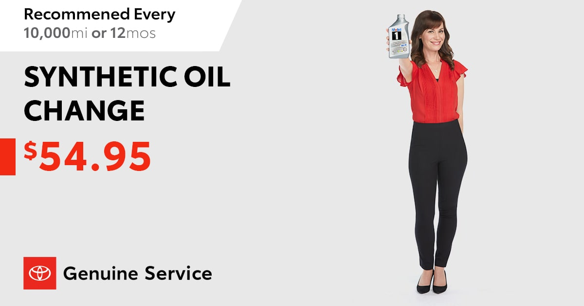 Toyota Synthetic Oil Change Discount Coupon