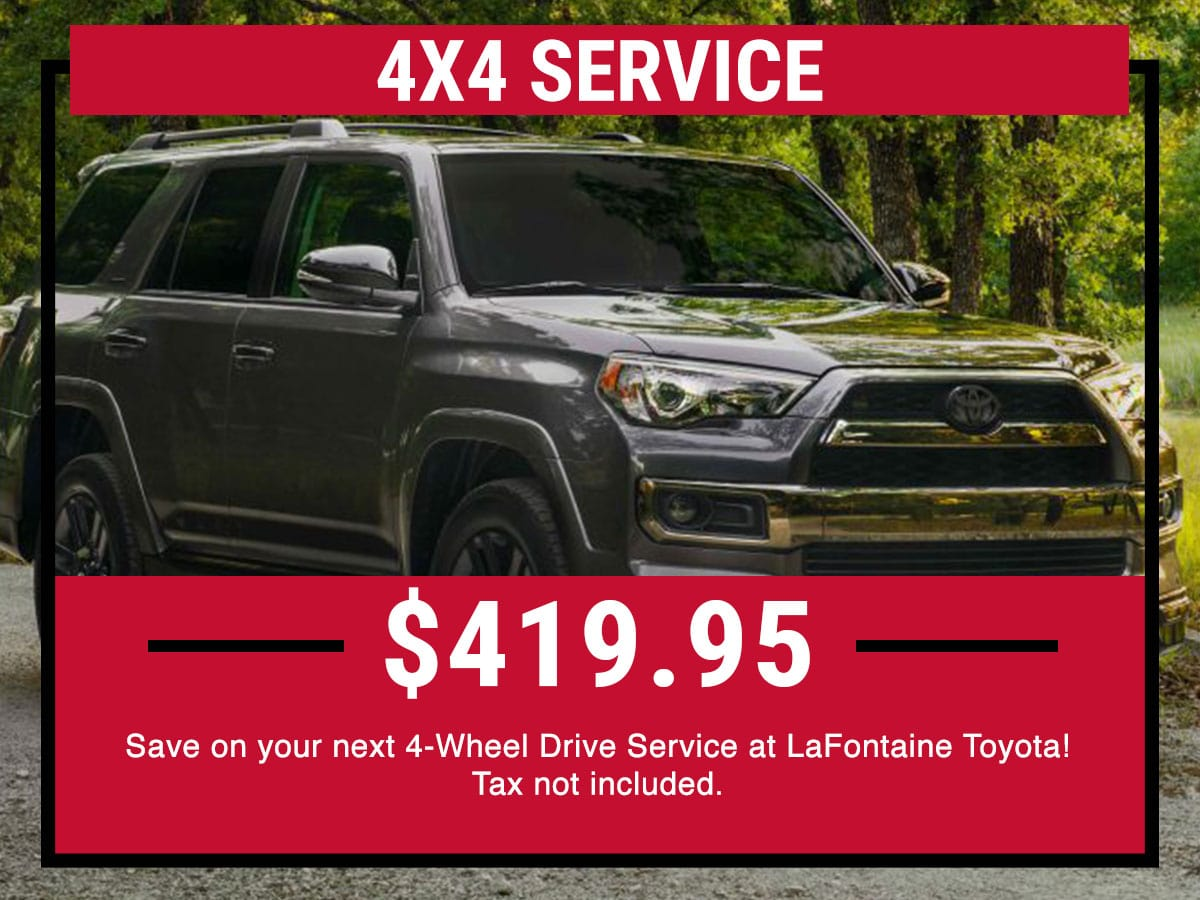 Toyota 4x4 Service Service Special