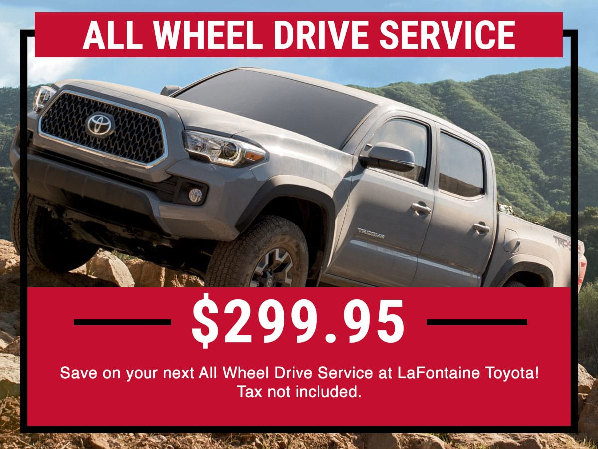 Toyota All Wheel Drive Service Special