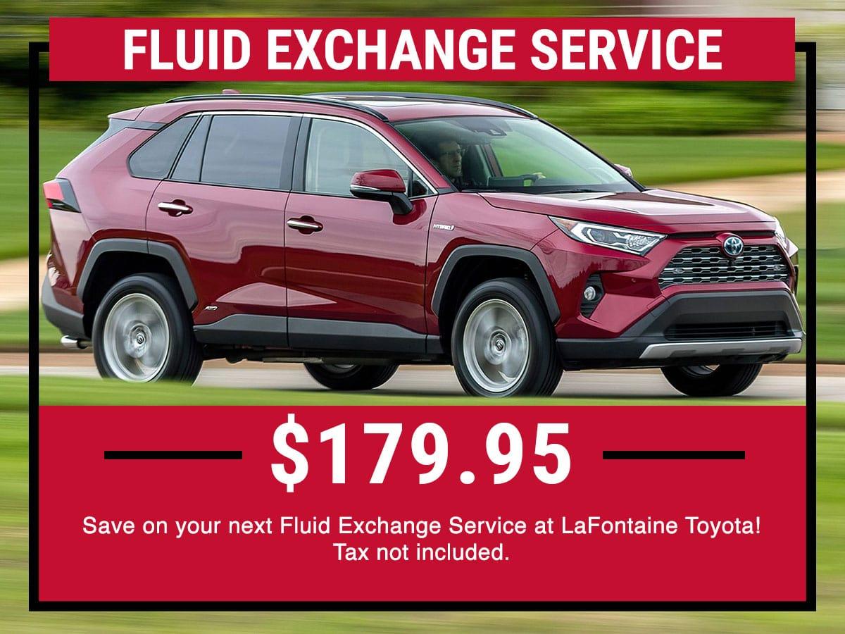 Toyota Fluid Exchange Service  Special
