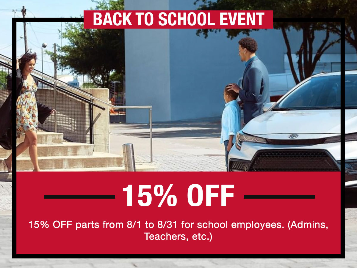 Back to School Event Coupon