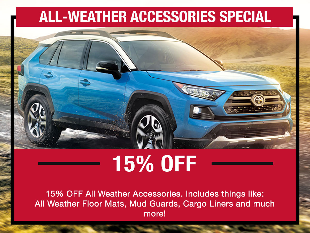 Toyota All Weather Accessories Special Coupon