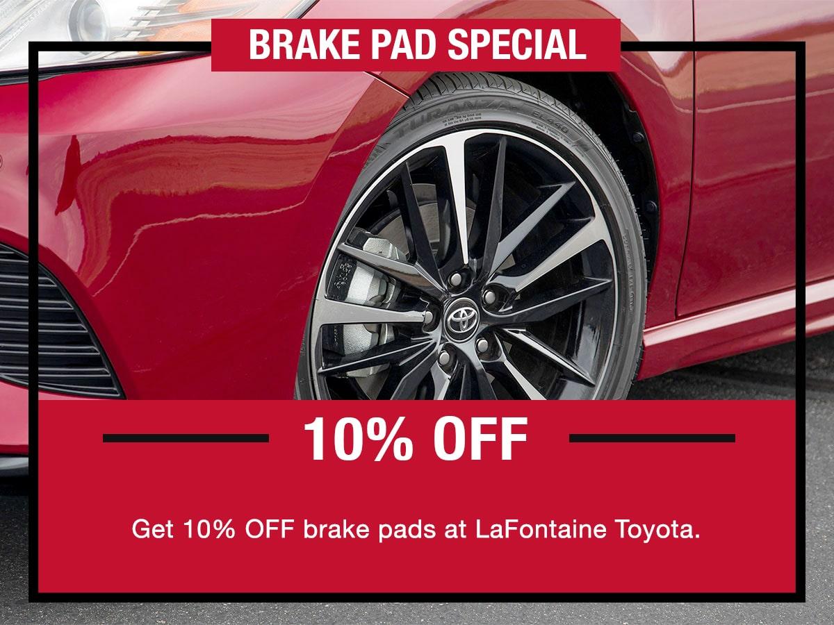 Toyota Brake Pad Special Coupon