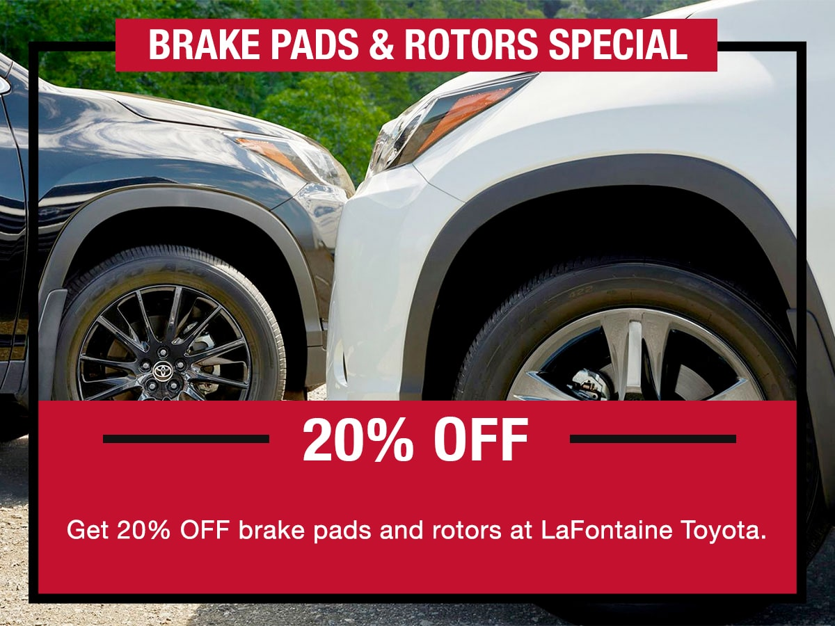 Toyota Brake Pads & Rotors Special Coupon
