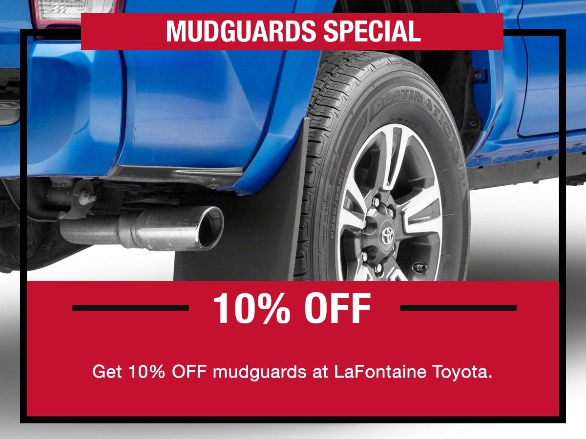 Toyota Mudguards Special Coupon