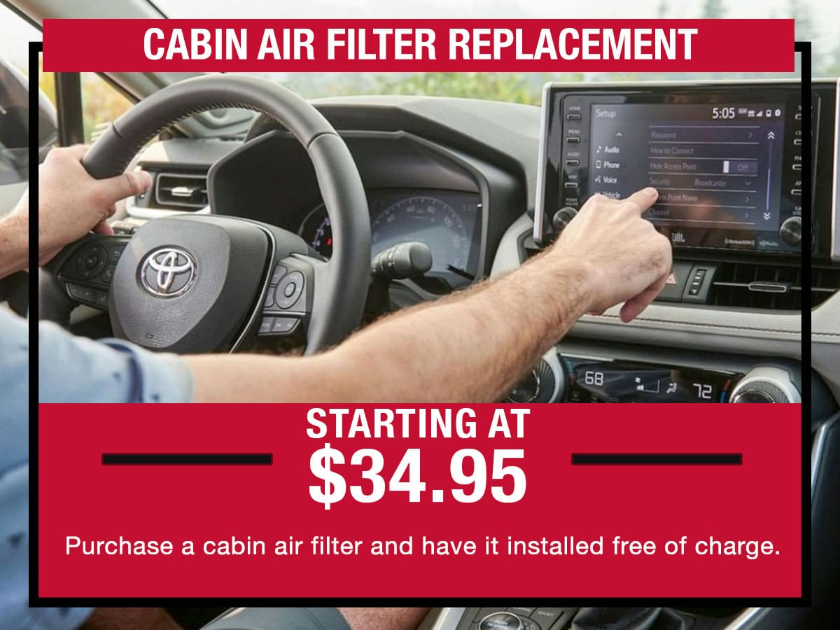 Cabin Air Filter Replacement Service Special