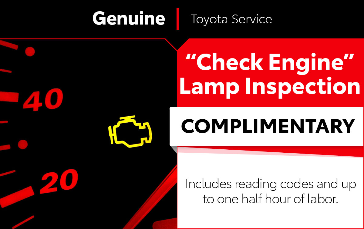 Check Engine Lamp Service Special Coupon