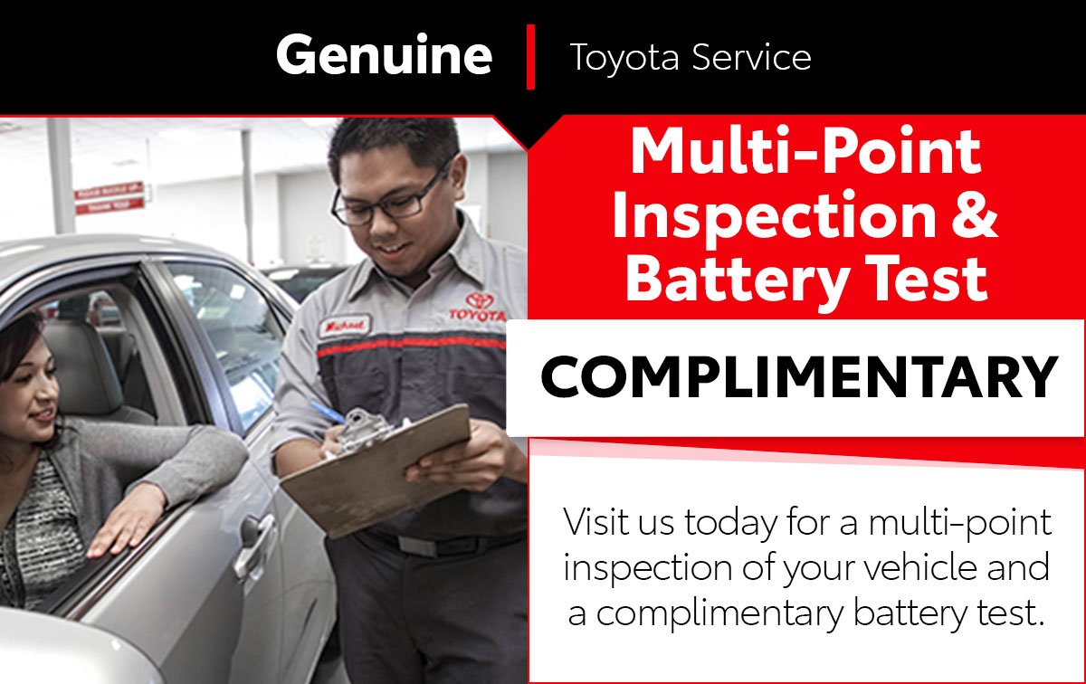 Multi-Point Inspection & Battery Test Service Special Coupon