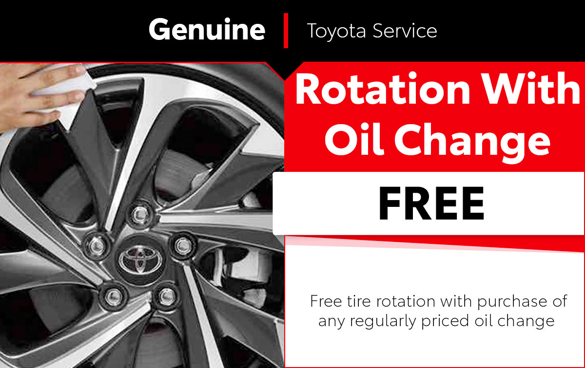 Toyota Tire Rotation Service Special Offer