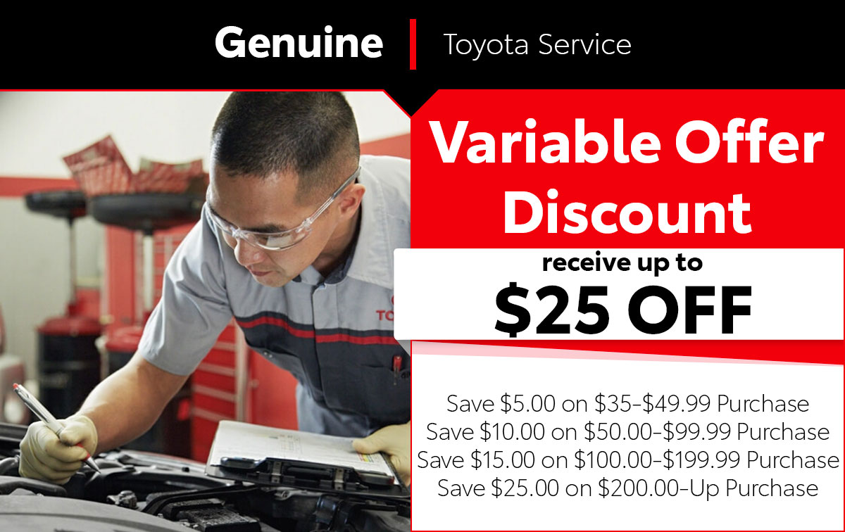 Variable Offer Discount Service Special Coupon