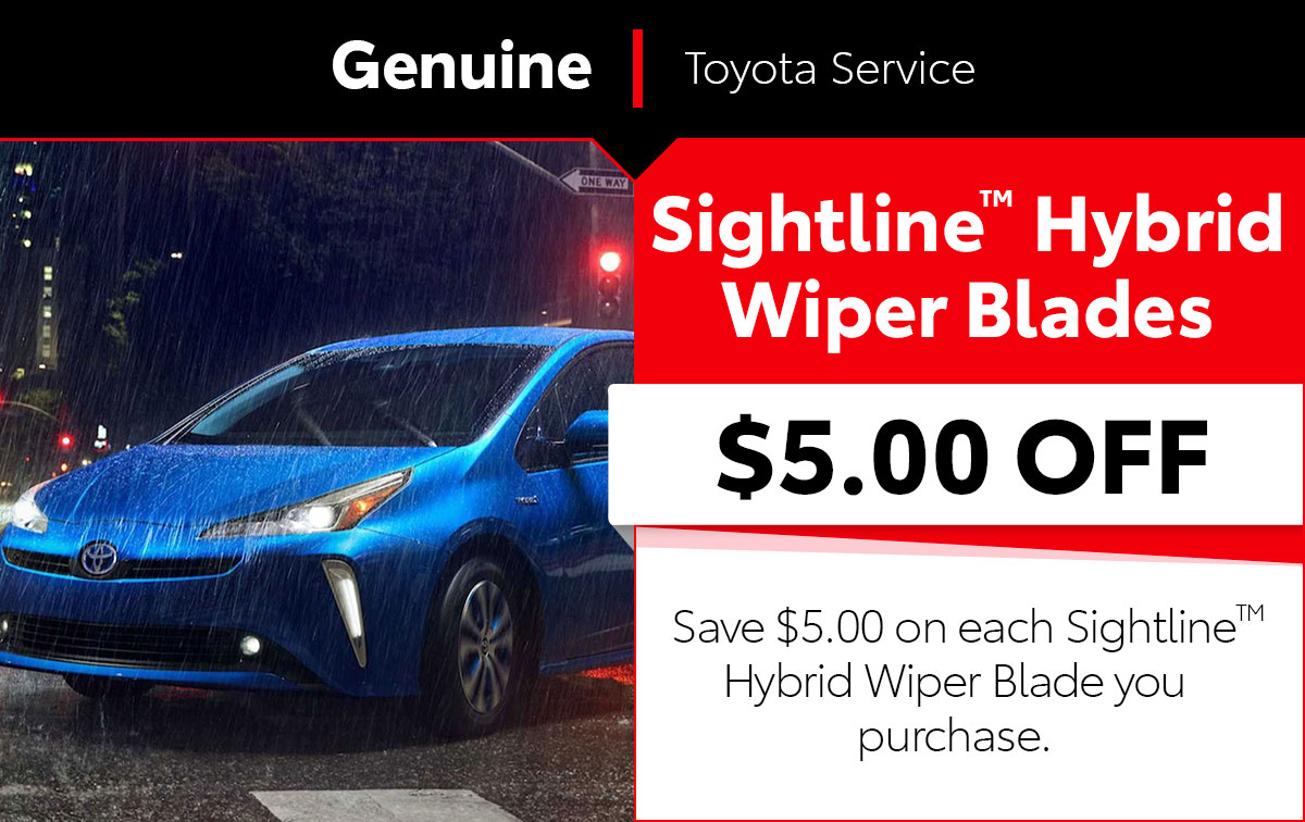 Sightline Hybrid Wiper Blade Service Special Coupon