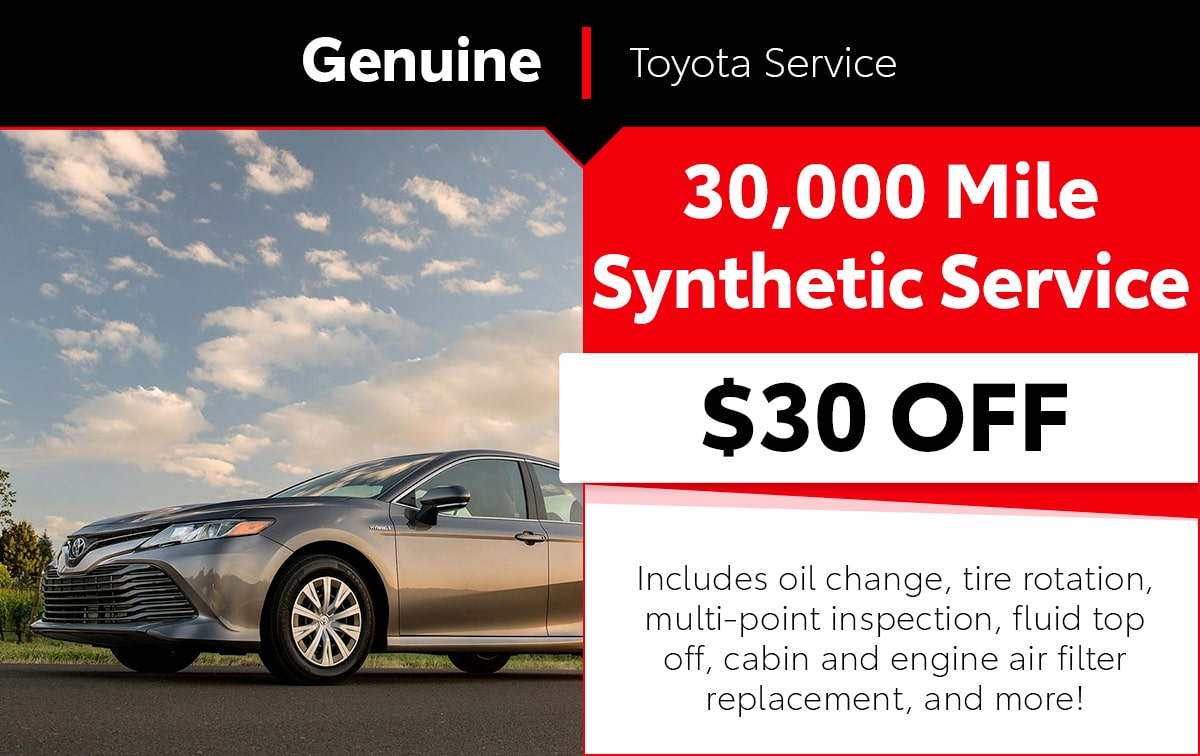 30,000 Mile Synthetic Service Special Coupon