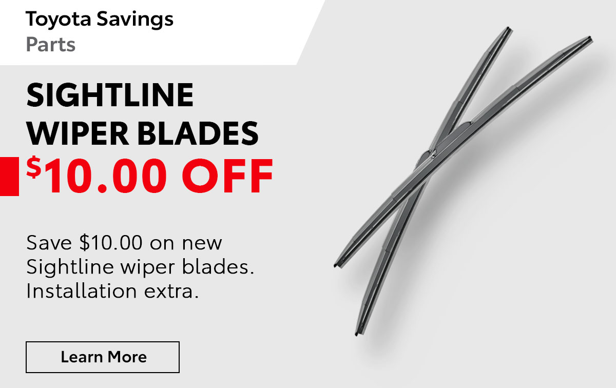 Toyota Wiper Blades Special Coupon