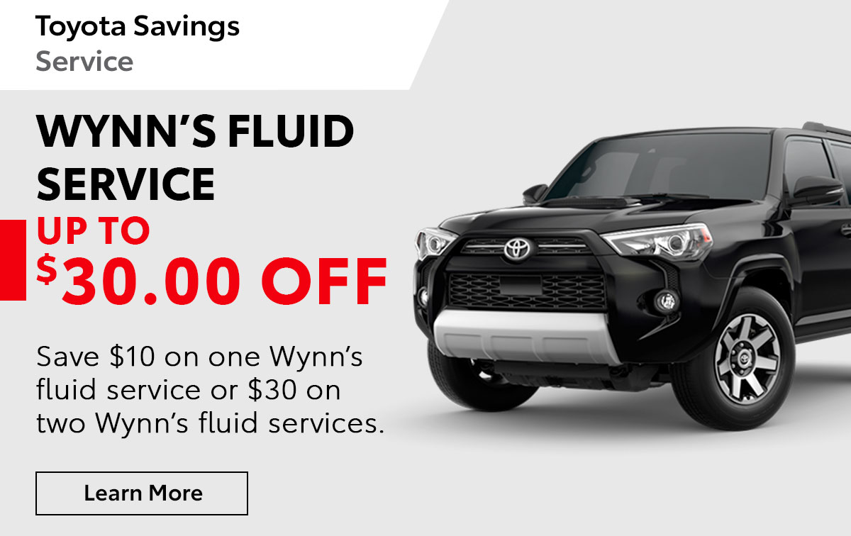 Toyota Wynn's Fluid Service Special Coupon