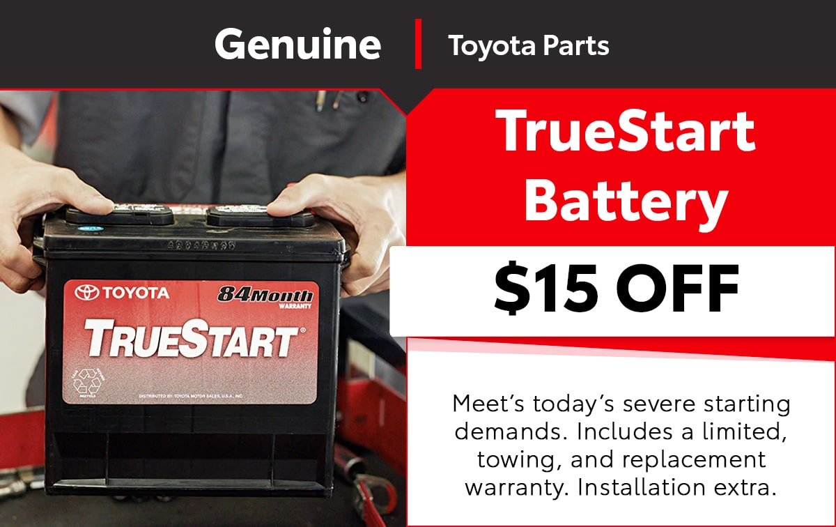Toyota TrueStart Battery Special Coupon