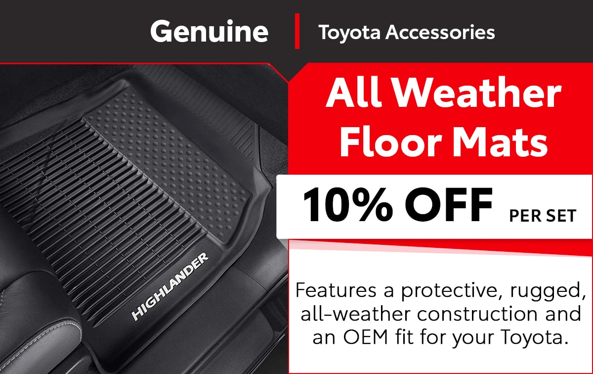 Toyota All Weather Floor Mats Special Coupon