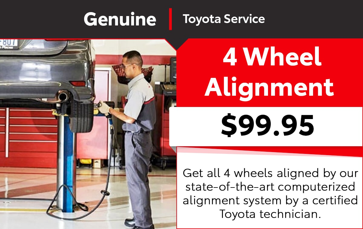 Toyota 4 Wheel Computerized Alignment Service Special Coupon