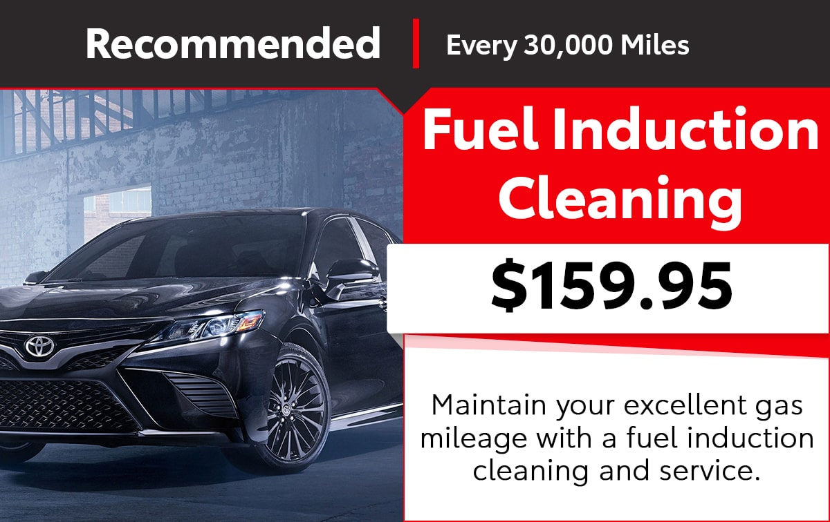 Toyota Fuel Induction Cleaning Service Special Coupon