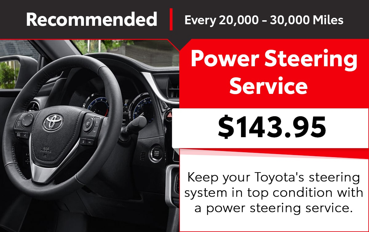 Toyota Power Steering Service Special Coupon