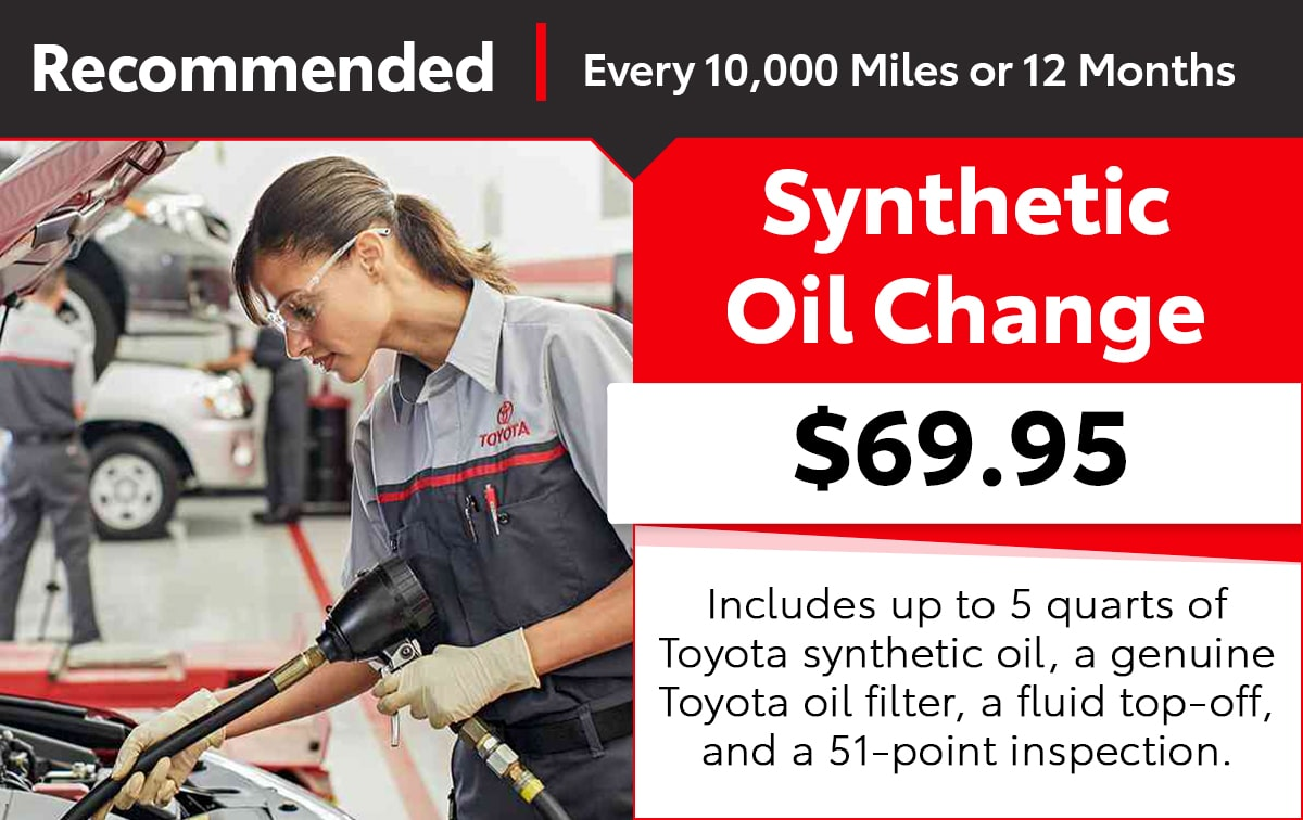 Toyota Synthetic Oil Change Service Special