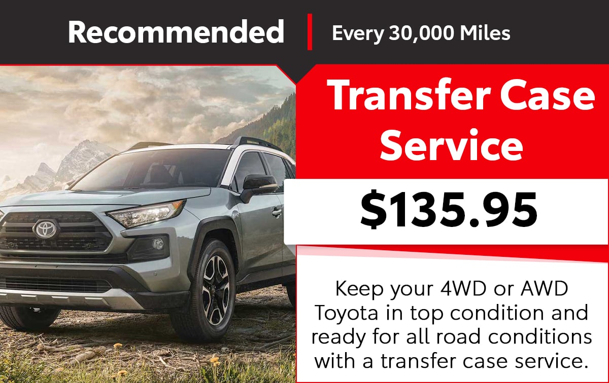 Toyota Transfer Case Service Special Coupon