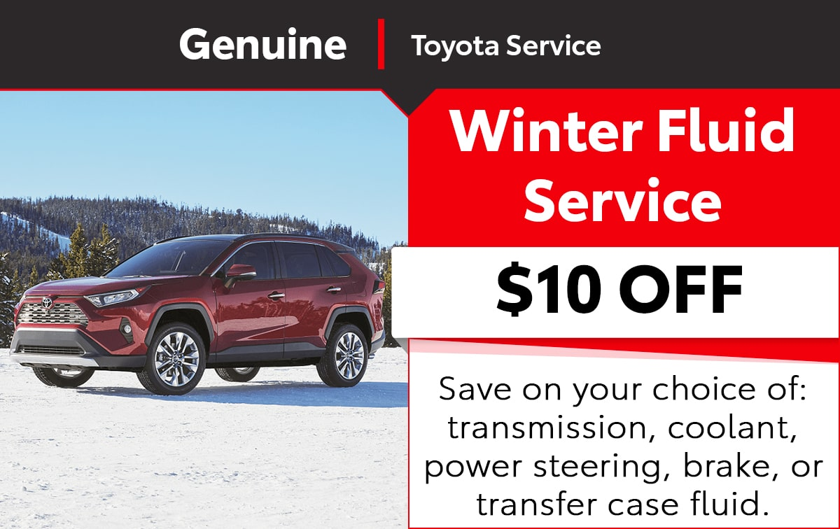 Toyota Winter Fluid Service Special Coupon