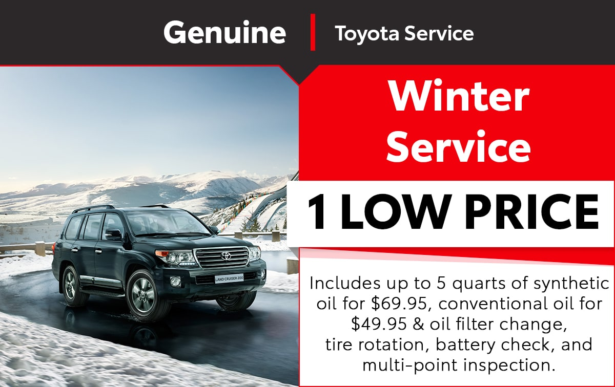Toyota Winter Service Special Coupon