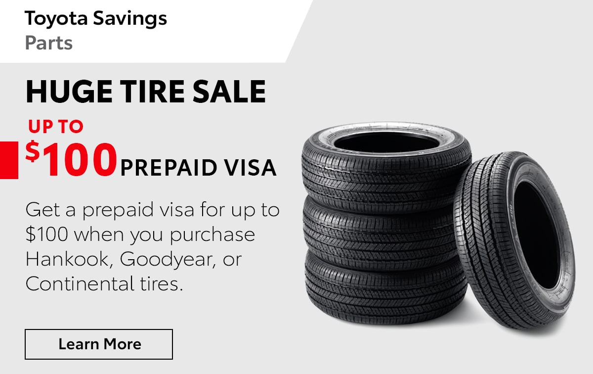 Toyota Huge Tire Sale Service Special Coupon