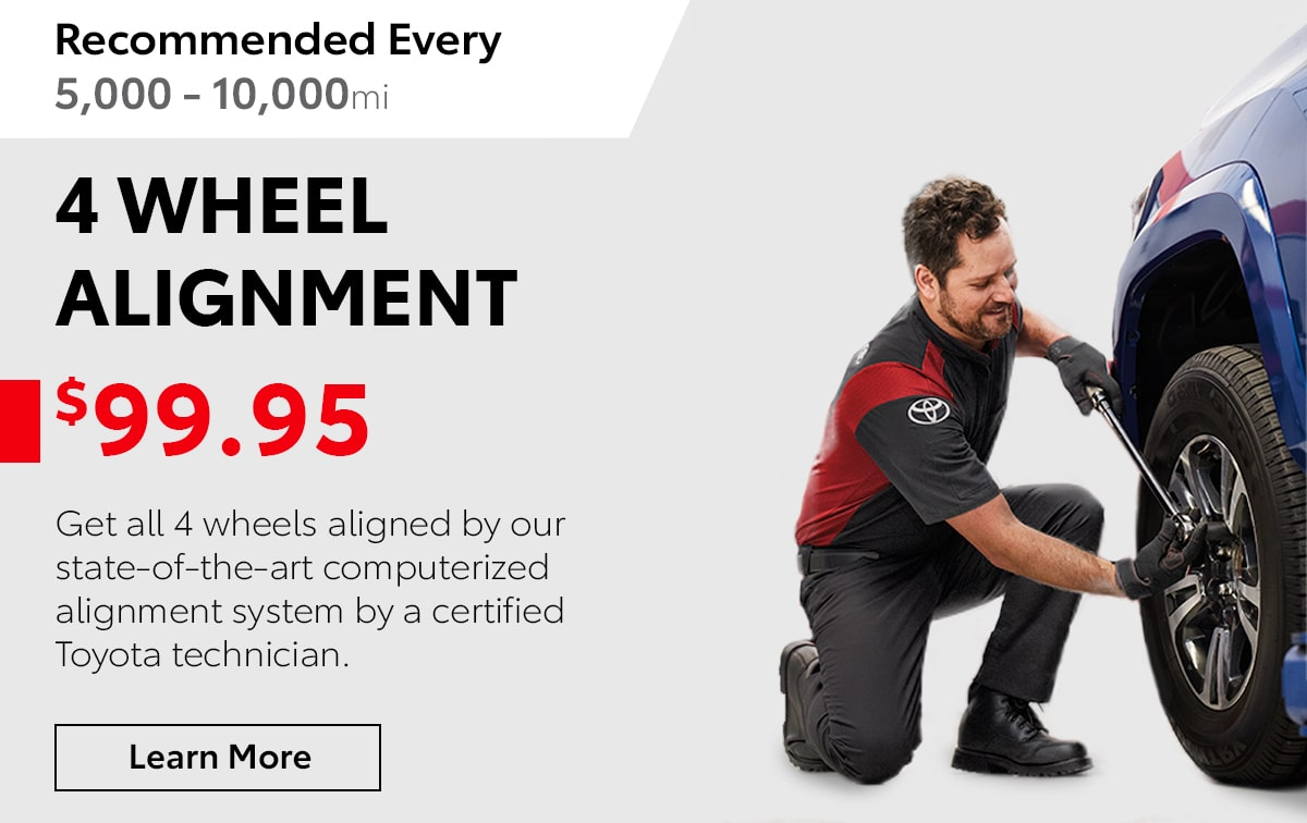 Toyota 4 Wheel Alignment Service Special Coupon