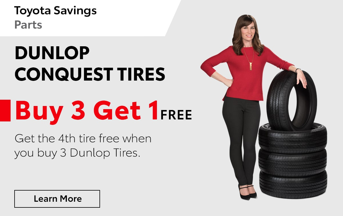 Toyota Dunlop Conquest Tires Special Coupon