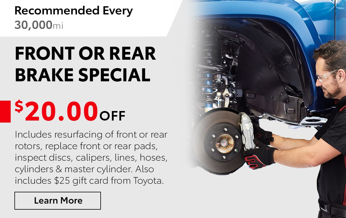 Toyota Front or Rear Brake Service Special Coupon