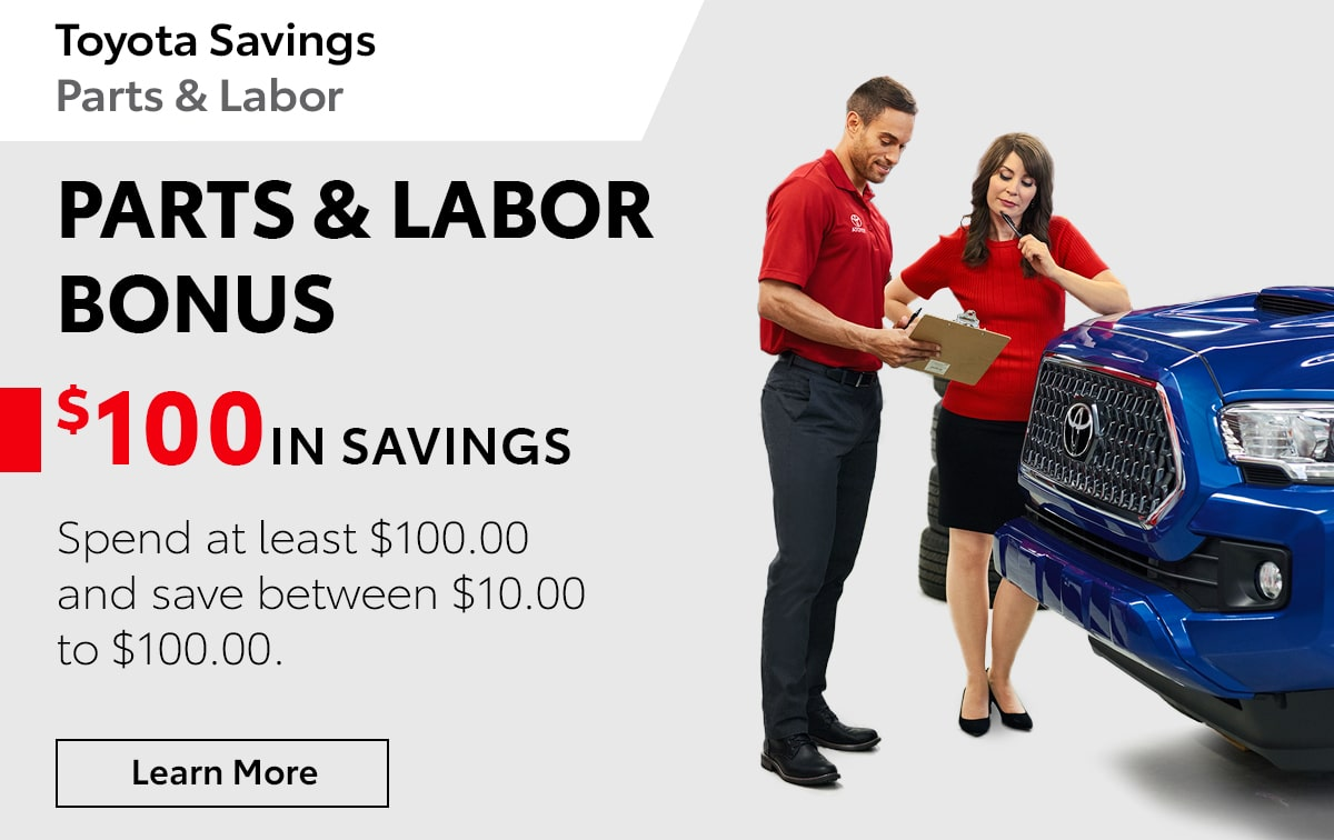 Toyota Parts & Labor Bonus Service Special Coupon