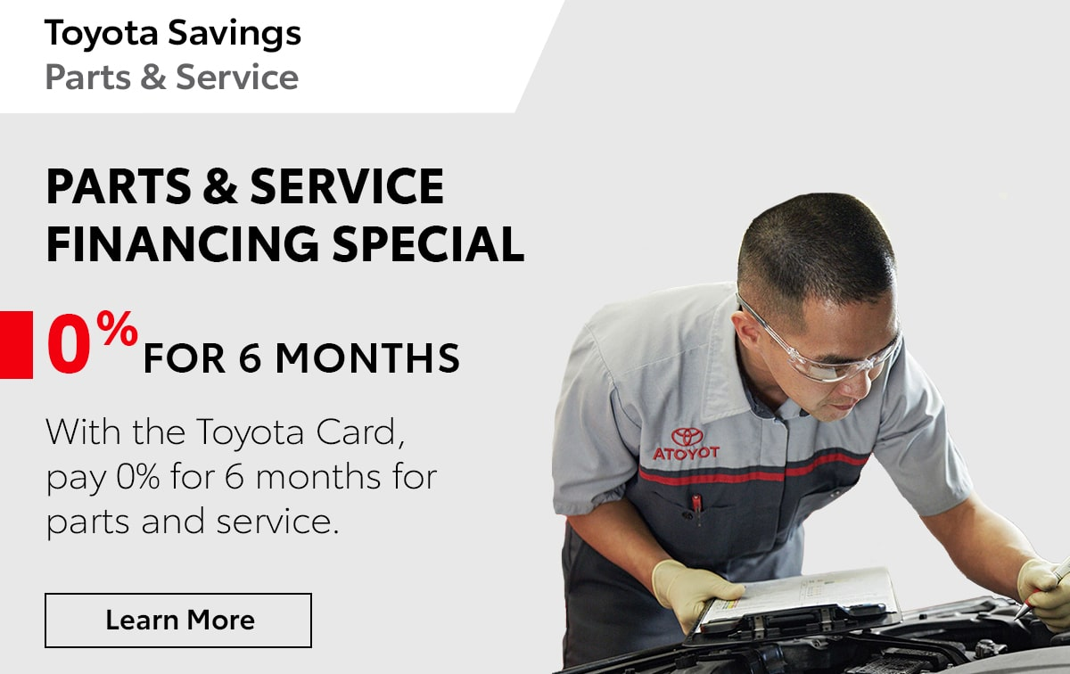 Toyota Parts & Service Financing Special Coupon