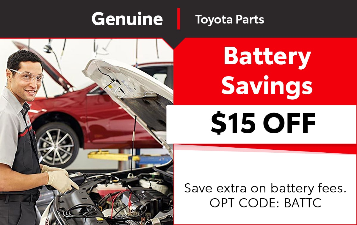 Toyota Battery Savings Special Coupon