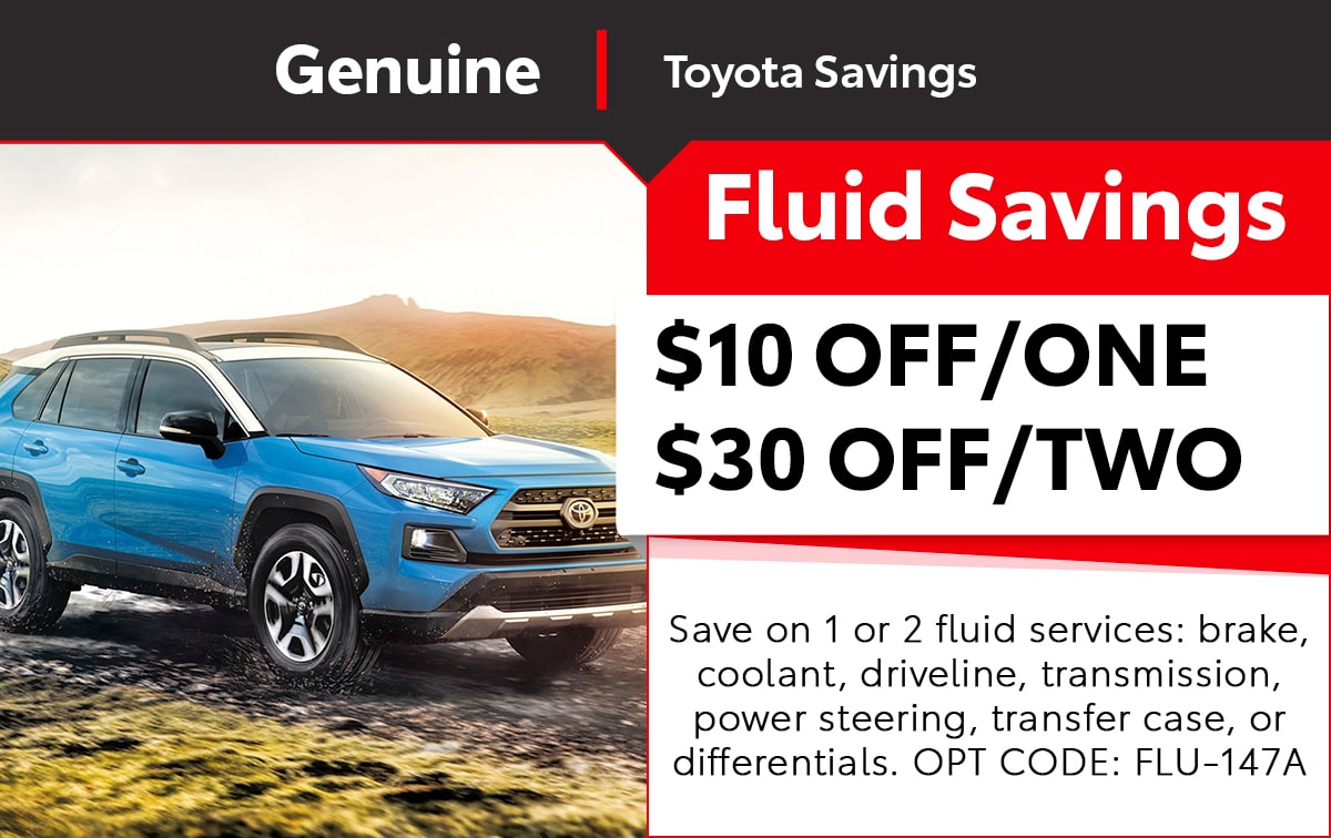 Toyota Fluid Savings Service Special Coupon