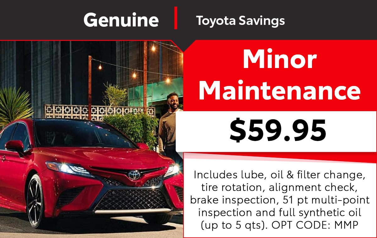 Toyota Minor Maintenance Service Special Coupon
