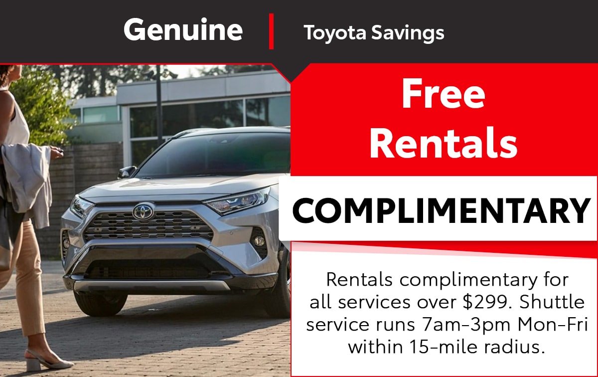 Toyota Free Rentals Special Coupon