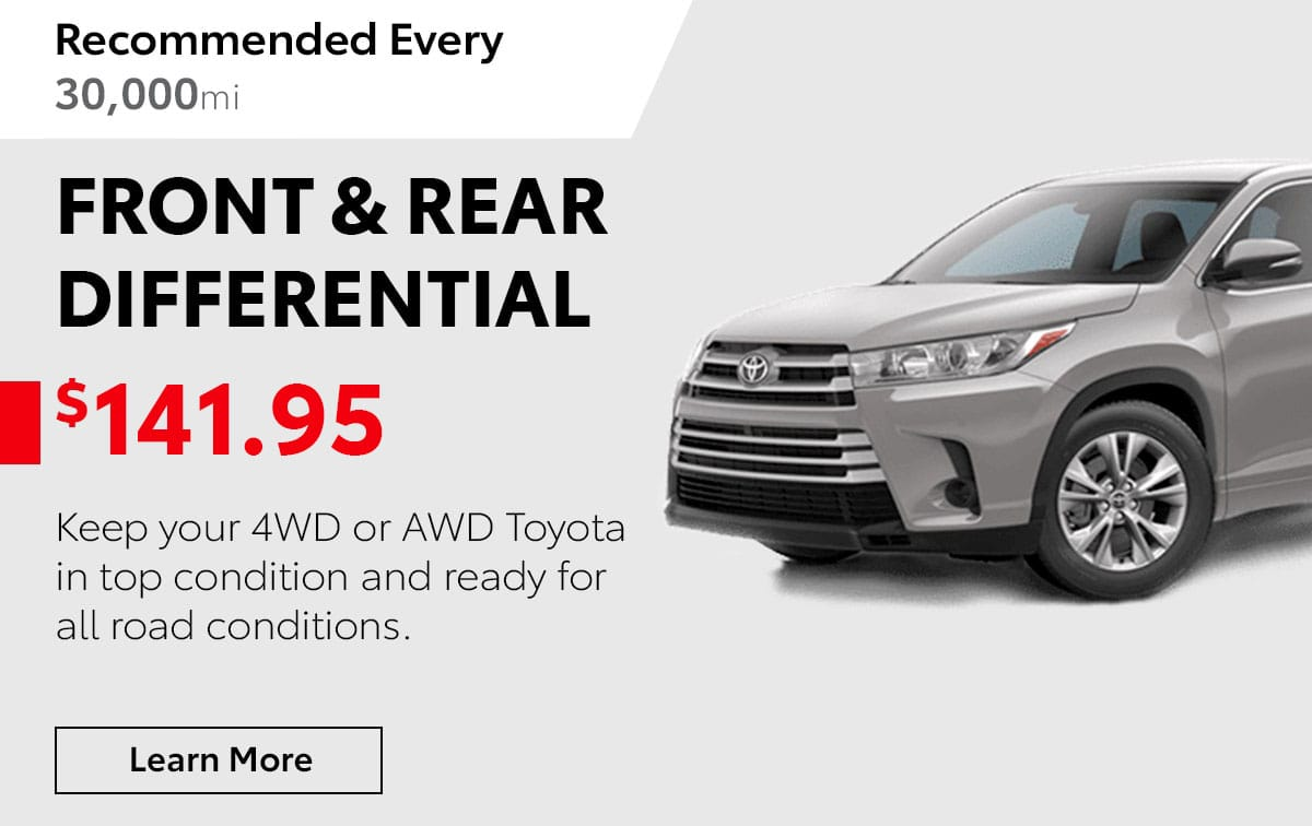 Toyota Front & Rear Differential Service Special Coupon