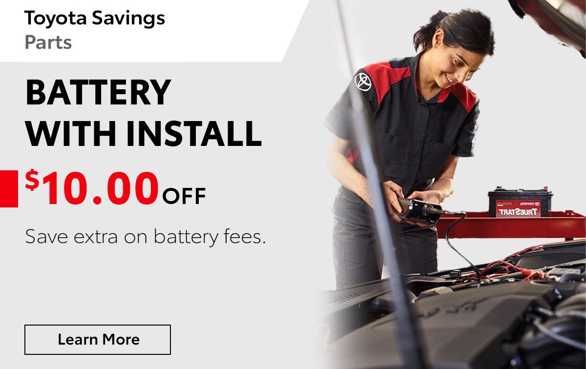 Toyota Battery Savings Service Special Coupon
