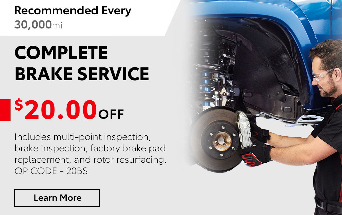 Toyota Complete Brake Service Special Coupon