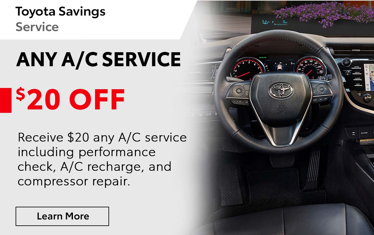 Toyota A/C Refresher Service Special Coupon