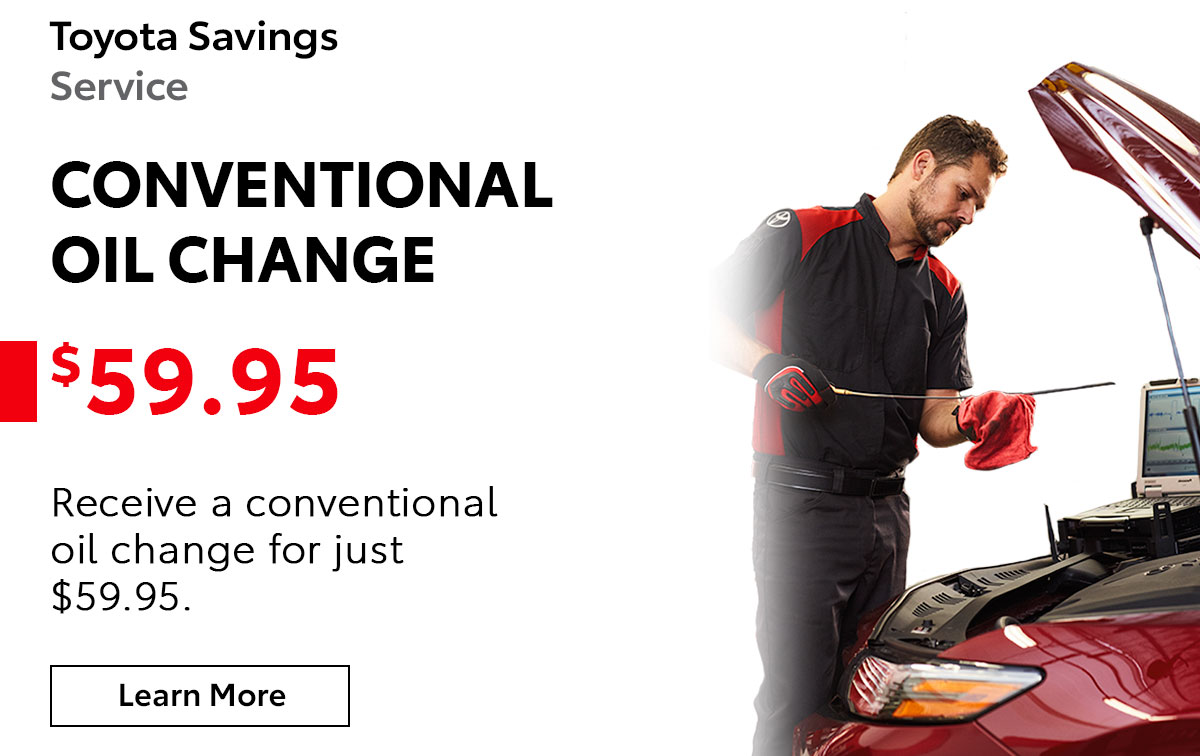 Toyota Conventional Oil Change Service Special Coupon