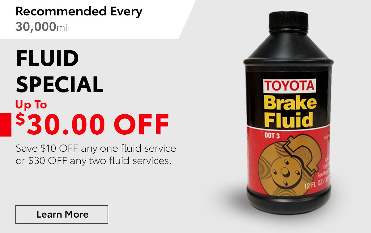 Toyota Fluids Service Special Coupon