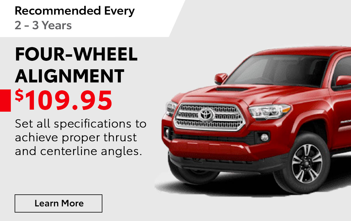 Toyota Four-Wheel Alignment Service Special Coupon