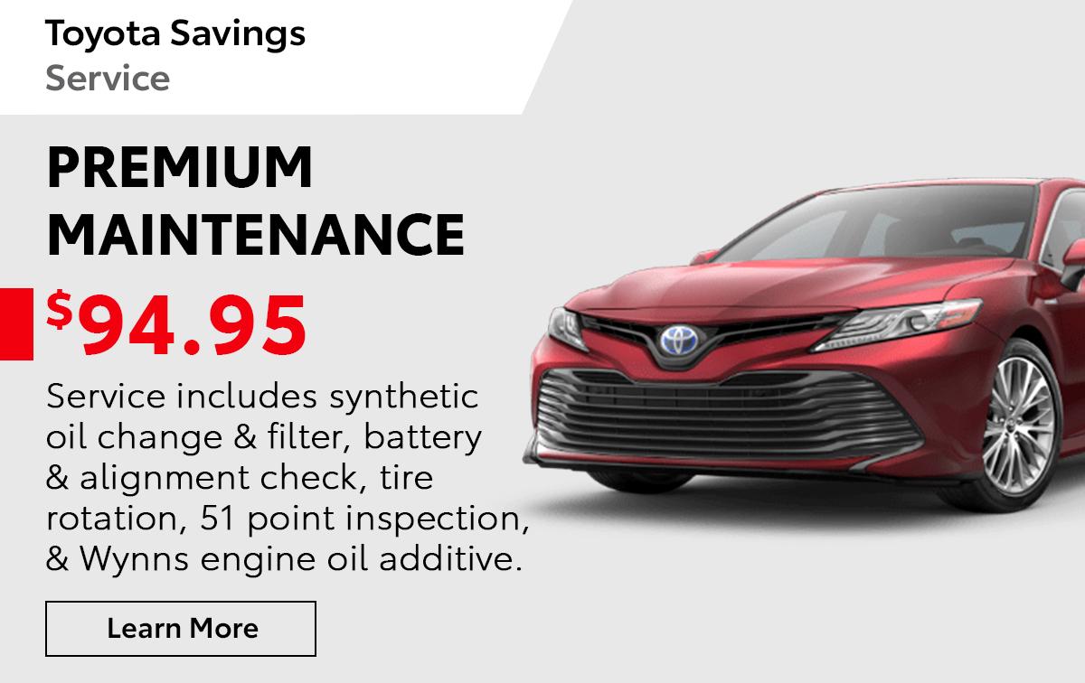 Toyota Premium Maintenance Special Coupon