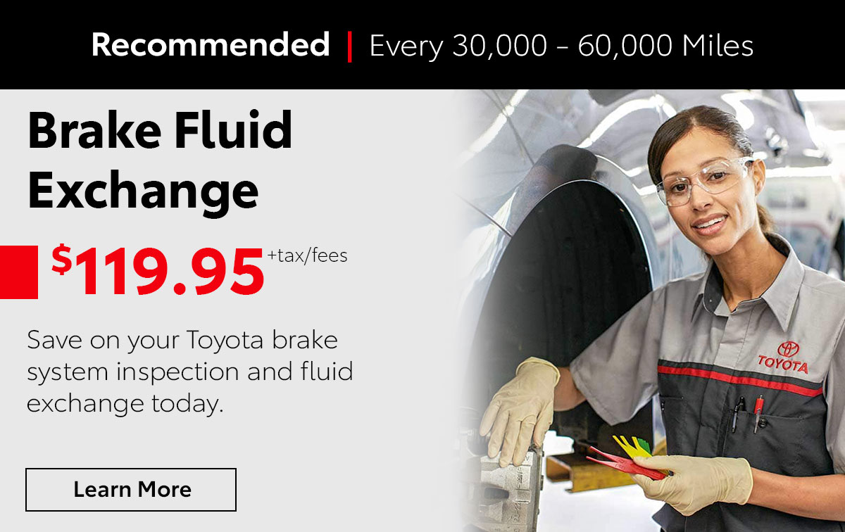 Toyota Brake Fluid Exchange Service Special Coupon