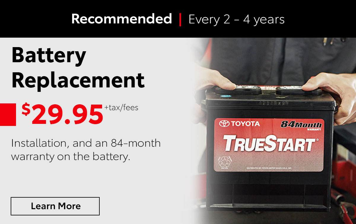 Toyota Battery Service Special Coupon