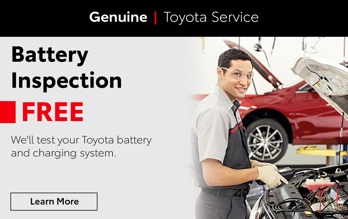 Toyota Battery Inspection Service Special Coupon
