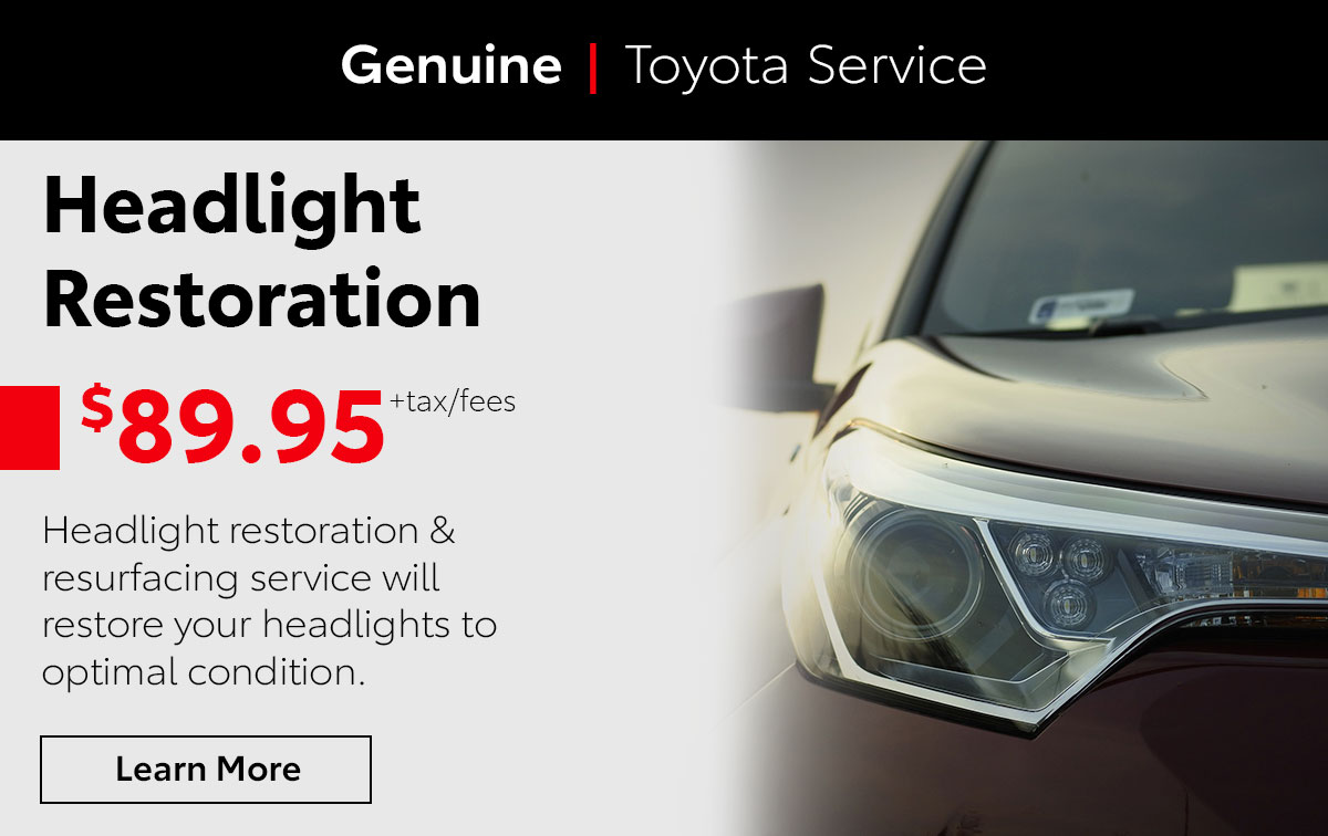 Toyota Headlight Restoration Service Special Coupon